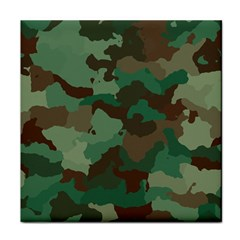 Camouflage Pattern A Completely Seamless Tile Able Background Design Tile Coasters