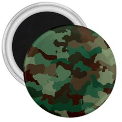 Camouflage Pattern A Completely Seamless Tile Able Background Design 3  Magnets