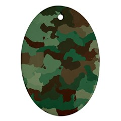 Camouflage Pattern A Completely Seamless Tile Able Background Design Ornament (oval)