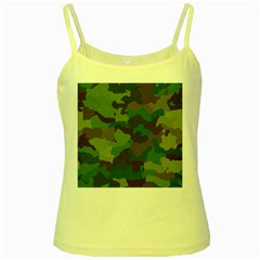 Camouflage Pattern A Completely Seamless Tile Able Background Design Yellow Spaghetti Tank