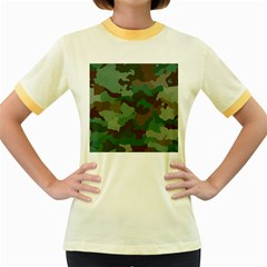 Camouflage Pattern A Completely Seamless Tile Able Background Design Women s Fitted Ringer T Shirts
