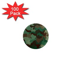 Camouflage Pattern A Completely Seamless Tile Able Background Design 1  Mini Magnets (100 Pack)