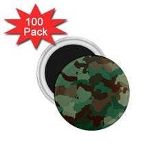 Camouflage Pattern A Completely Seamless Tile Able Background Design 1 75  Magnets (100 Pack)