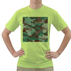 Camouflage Pattern A Completely Seamless Tile Able Background Design Green T-Shirt