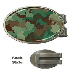 Camouflage Pattern A Completely Seamless Tile Able Background Design Money Clips (oval)