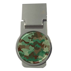Camouflage Pattern A Completely Seamless Tile Able Background Design Money Clips (Round)