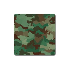 Camouflage Pattern A Completely Seamless Tile Able Background Design Square Magnet