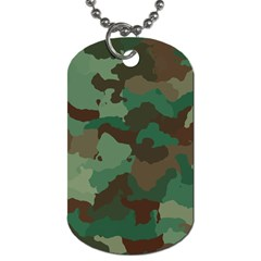 Camouflage Pattern A Completely Seamless Tile Able Background Design Dog Tag (One Side)