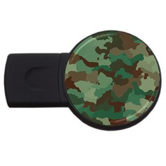 Camouflage Pattern A Completely Seamless Tile Able Background Design USB Flash Drive Round (2 GB)