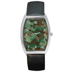 Camouflage Pattern A Completely Seamless Tile Able Background Design Barrel Style Metal Watch