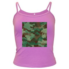 Camouflage Pattern A Completely Seamless Tile Able Background Design Dark Spaghetti Tank