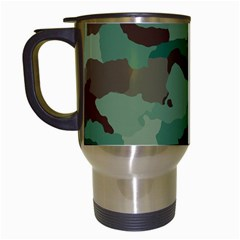 Camouflage Pattern A Completely Seamless Tile Able Background Design Travel Mugs (white)