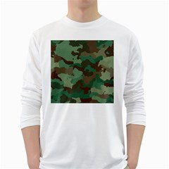 Camouflage Pattern A Completely Seamless Tile Able Background Design White Long Sleeve T Shirts