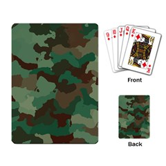 Camouflage Pattern A Completely Seamless Tile Able Background Design Playing Card