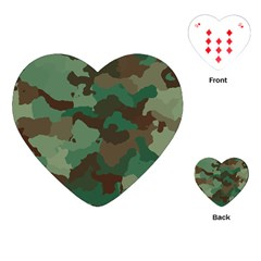 Camouflage Pattern A Completely Seamless Tile Able Background Design Playing Cards (heart)