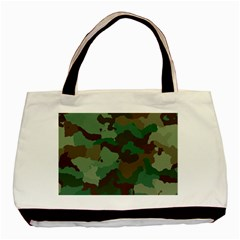 Camouflage Pattern A Completely Seamless Tile Able Background Design Basic Tote Bag