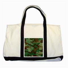 Camouflage Pattern A Completely Seamless Tile Able Background Design Two Tone Tote Bag