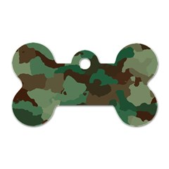 Camouflage Pattern A Completely Seamless Tile Able Background Design Dog Tag Bone (one Side)