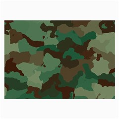 Camouflage Pattern A Completely Seamless Tile Able Background Design Large Glasses Cloth (2 Side)