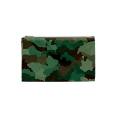 Camouflage Pattern A Completely Seamless Tile Able Background Design Cosmetic Bag (small)