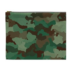 Camouflage Pattern A Completely Seamless Tile Able Background Design Cosmetic Bag (xl)