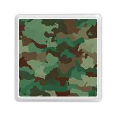 Camouflage Pattern A Completely Seamless Tile Able Background Design Memory Card Reader (square)