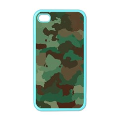 Camouflage Pattern A Completely Seamless Tile Able Background Design Apple iPhone 4 Case (Color)