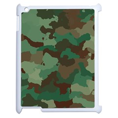 Camouflage Pattern A Completely Seamless Tile Able Background Design Apple iPad 2 Case (White)