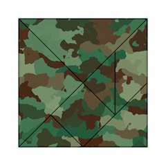 Camouflage Pattern A Completely Seamless Tile Able Background Design Acrylic Tangram Puzzle (6  x 6 )