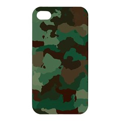 Camouflage Pattern A Completely Seamless Tile Able Background Design Apple iPhone 4/4S Premium Hardshell Case