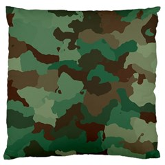 Camouflage Pattern A Completely Seamless Tile Able Background Design Large Cushion Case (Two Sides)