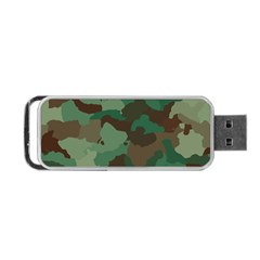Camouflage Pattern A Completely Seamless Tile Able Background Design Portable USB Flash (One Side)