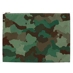 Camouflage Pattern A Completely Seamless Tile Able Background Design Cosmetic Bag (xxl)