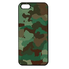 Camouflage Pattern A Completely Seamless Tile Able Background Design Apple iPhone 5 Seamless Case (Black)