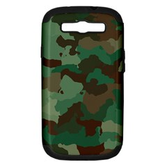 Camouflage Pattern A Completely Seamless Tile Able Background Design Samsung Galaxy S Iii Hardshell Case (pc+silicone)