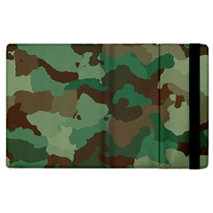 Camouflage Pattern A Completely Seamless Tile Able Background Design Apple iPad 3/4 Flip Case