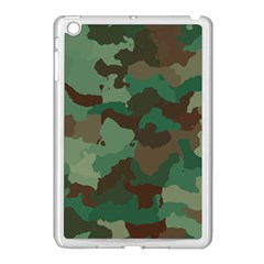 Camouflage Pattern A Completely Seamless Tile Able Background Design Apple iPad Mini Case (White)