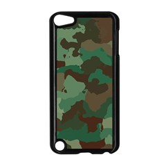 Camouflage Pattern A Completely Seamless Tile Able Background Design Apple iPod Touch 5 Case (Black)