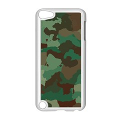 Camouflage Pattern A Completely Seamless Tile Able Background Design Apple iPod Touch 5 Case (White)