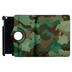 Camouflage Pattern A Completely Seamless Tile Able Background Design Apple iPad 2 Flip 360 Case
