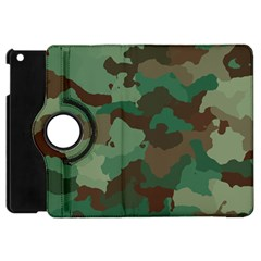 Camouflage Pattern A Completely Seamless Tile Able Background Design Apple Ipad Mini Flip 360 Case