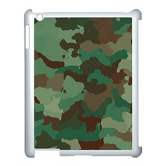Camouflage Pattern A Completely Seamless Tile Able Background Design Apple iPad 3/4 Case (White)