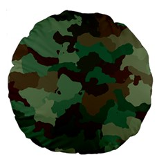 Camouflage Pattern A Completely Seamless Tile Able Background Design Large 18  Premium Round Cushions