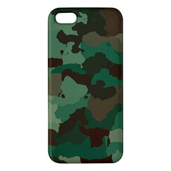 Camouflage Pattern A Completely Seamless Tile Able Background Design Apple Iphone 5 Premium Hardshell Case