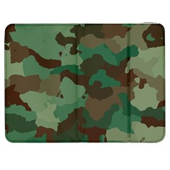 Camouflage Pattern A Completely Seamless Tile Able Background Design Samsung Galaxy Tab 7  P1000 Flip Case