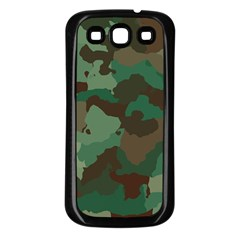Camouflage Pattern A Completely Seamless Tile Able Background Design Samsung Galaxy S3 Back Case (Black)
