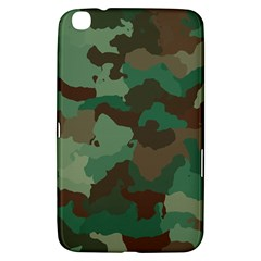 Camouflage Pattern A Completely Seamless Tile Able Background Design Samsung Galaxy Tab 3 (8 ) T3100 Hardshell Case