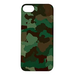 Camouflage Pattern A Completely Seamless Tile Able Background Design Apple iPhone 5S/ SE Hardshell Case