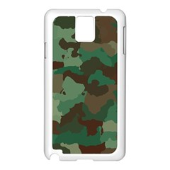 Camouflage Pattern A Completely Seamless Tile Able Background Design Samsung Galaxy Note 3 N9005 Case (White)