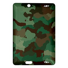 Camouflage Pattern A Completely Seamless Tile Able Background Design Amazon Kindle Fire HD (2013) Hardshell Case